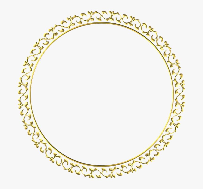 Gold, Frame, Round, Border, Decoration, Decor - Gold Frame Png Round, Transparent Png, Free Download