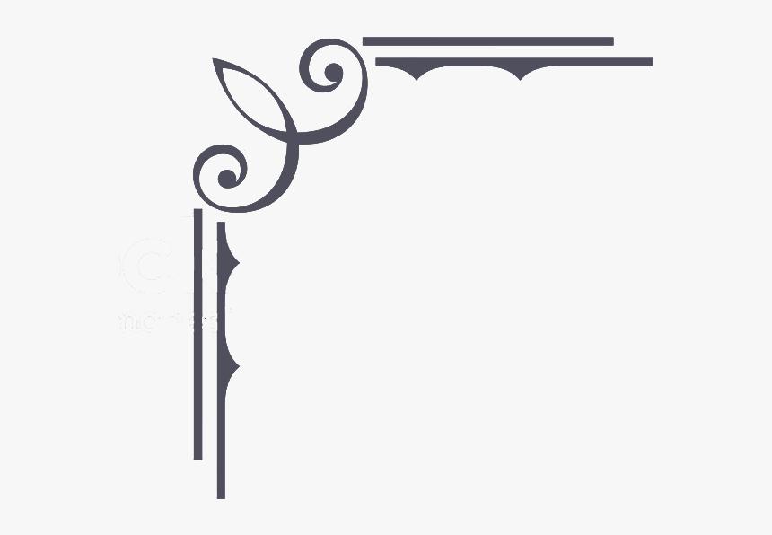 Calligraphy Border Png -vintage Border Png Ornamental - Border Line Design Vector, Transparent Png, Free Download