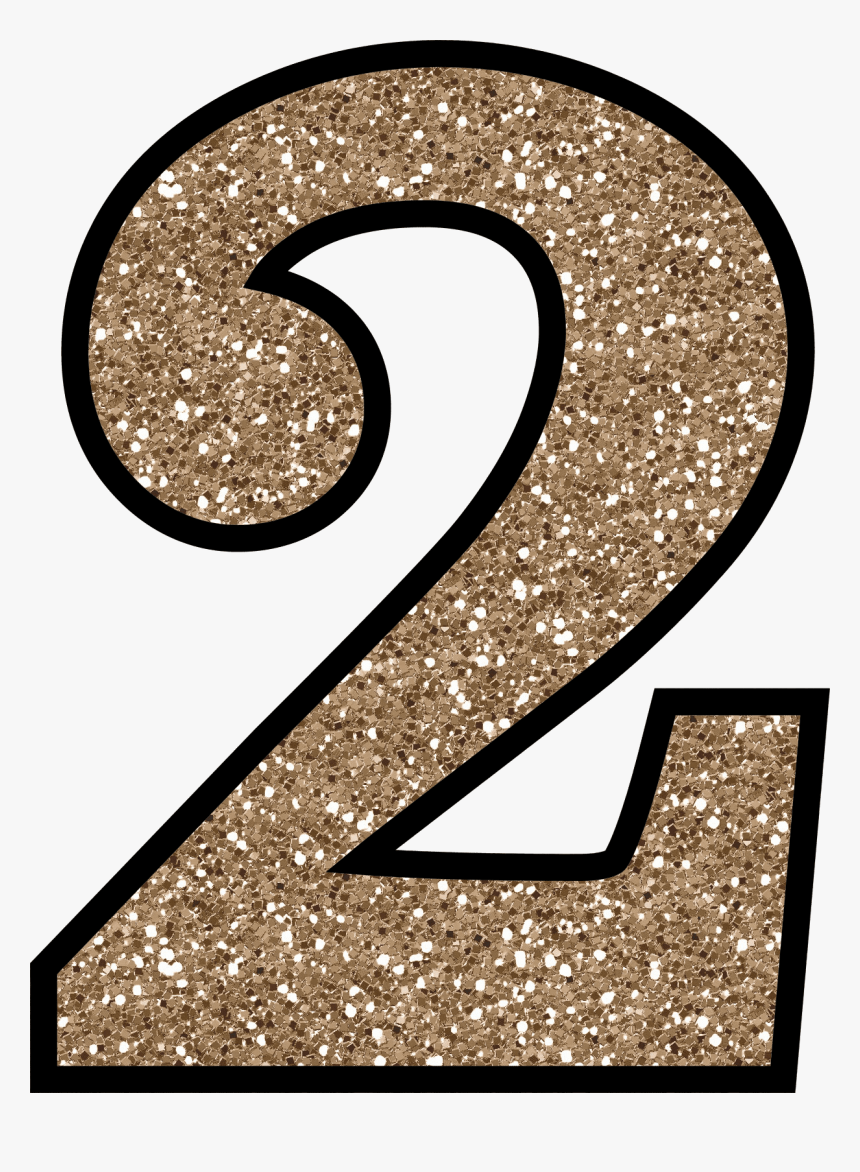 Number Digit 2 Png Transparent Images Transparent Backgrounds - Printable Glitter Numbers, Png Download, Free Download