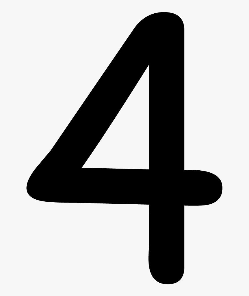 Number 4 Png - Black Number 4 Clip Art, Transparent Png, Free Download