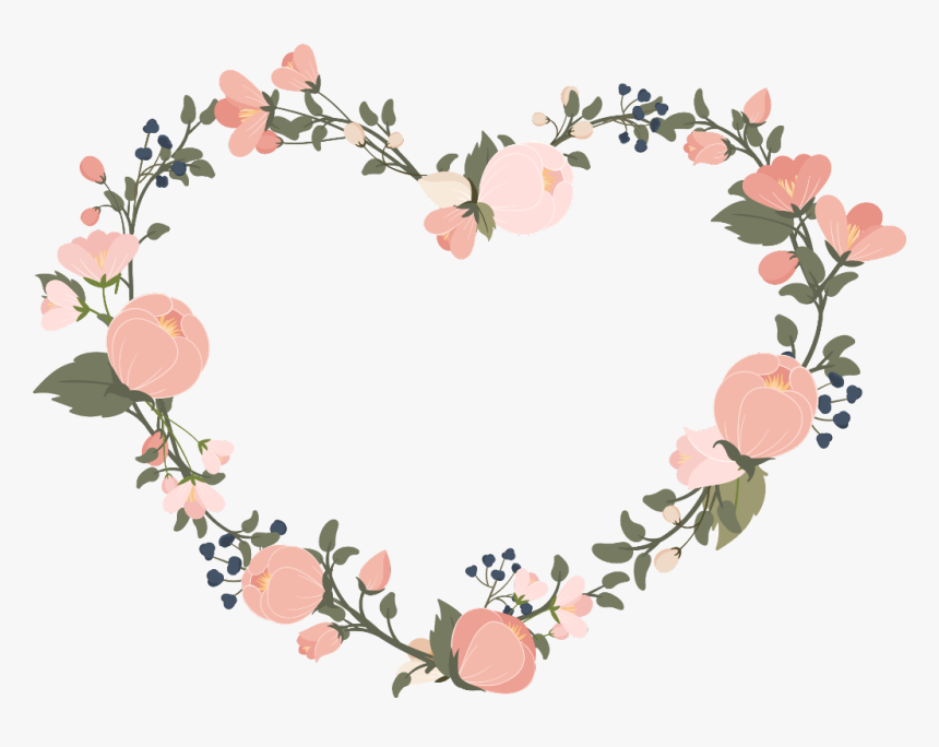 #frame #marco #flores #flower #hear #love #cute #corazon - Pastel Flower Vector Png, Transparent Png, Free Download