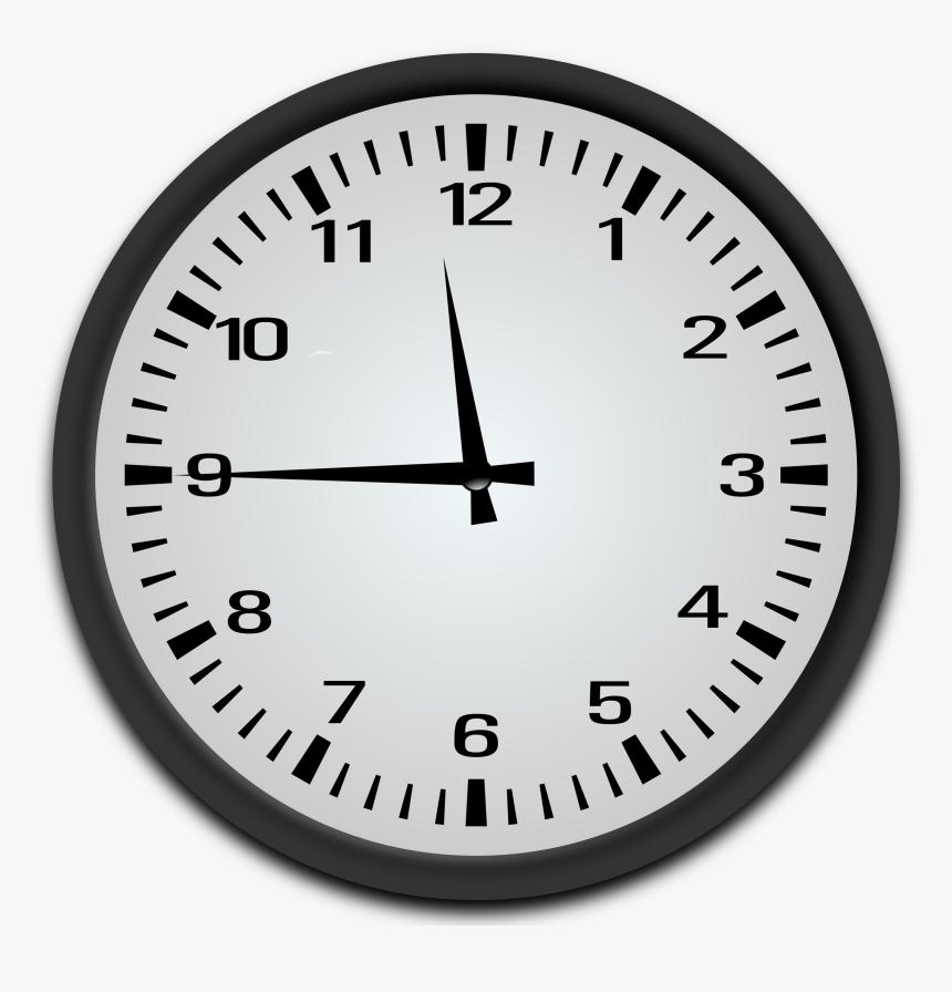 """Quarter To 12 O""""clock Clip Arts - Quarter To 9 Clock, HD Png Download, Free Download"""