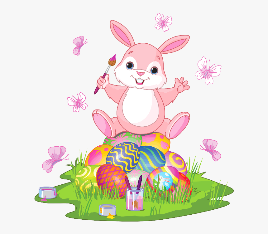 Bunny Pink Free Pinterest Cute Easter Bunny Clipart Hd Png Download Kindpng
