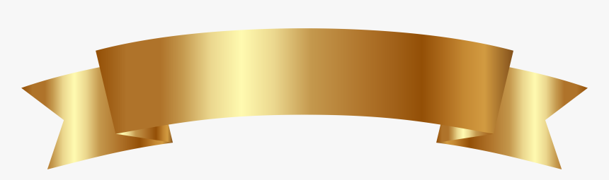 Banner Gold Clipart Png Image - Gold Ribbon Vector Transparent, Png Download, Free Download