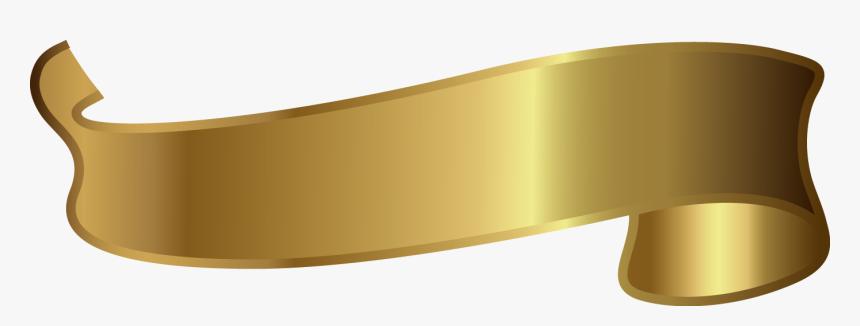 Brass Material Angle Font - Golden Ribbon Design Png, Transparent Png, Free Download