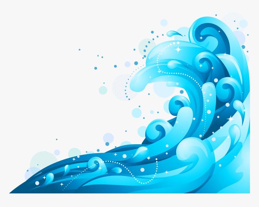 Wind Wave, Wave, Wave Vector, Blue, Graphic Design ...
