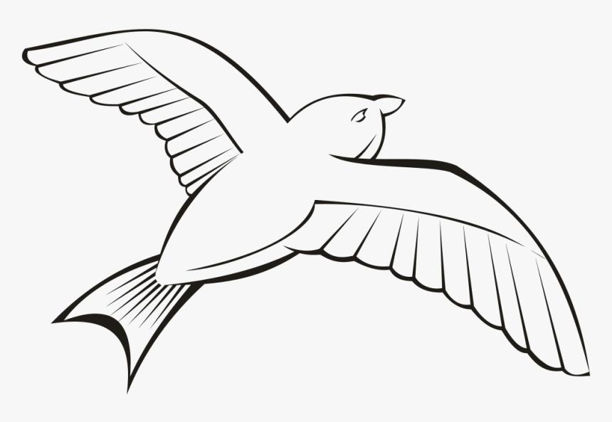 Flying Bird Clipart Outline , Transparent Cartoons - Flying Bird Clipart Outline, HD Png Download, Free Download