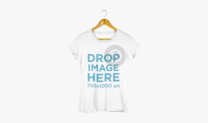 Hanger Women T Shirt Mockup, HD Png Download, Free Download