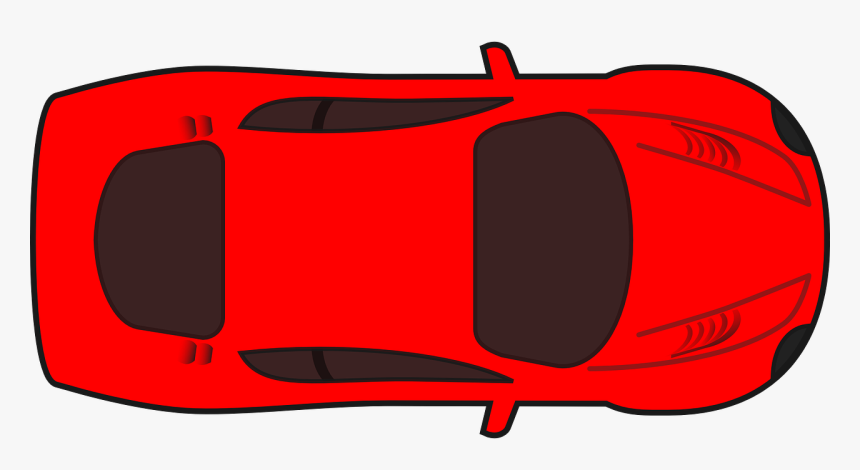 Car, Red, Vehicle, Automobile, Auto, Drive, Wheel - Car Clipart Top View, HD Png Download, Free Download