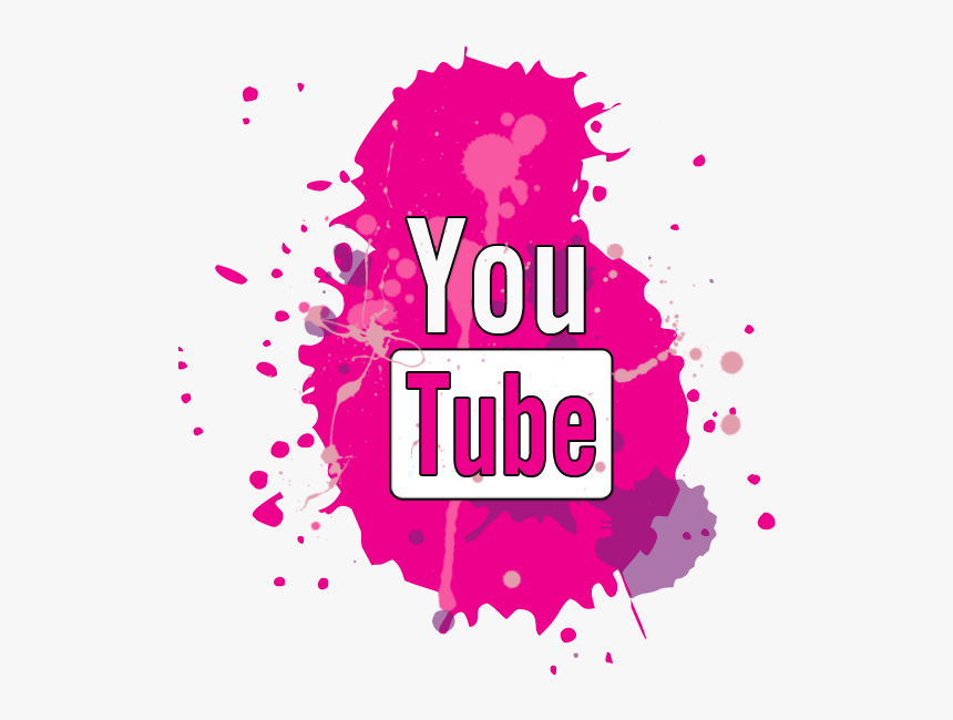 Pink Youtube Png - Youtube Black Icon Png, Transparent Png, Free Download