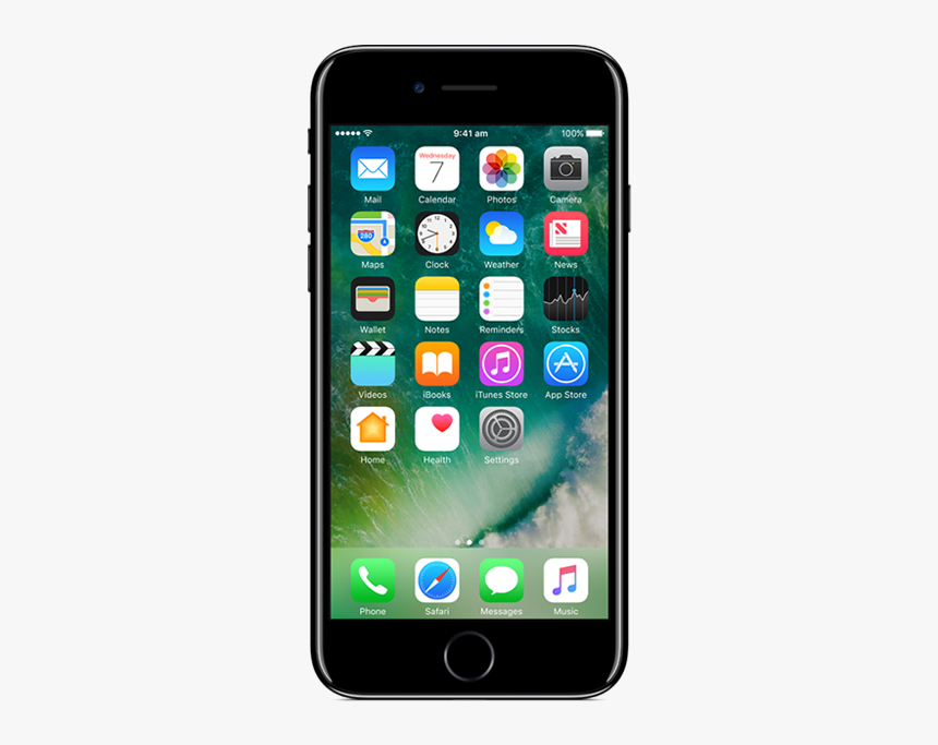 Apple Iphone 7 128gb Jet Black Mobile Png - Iphone 6, Transparent Png, Free Download