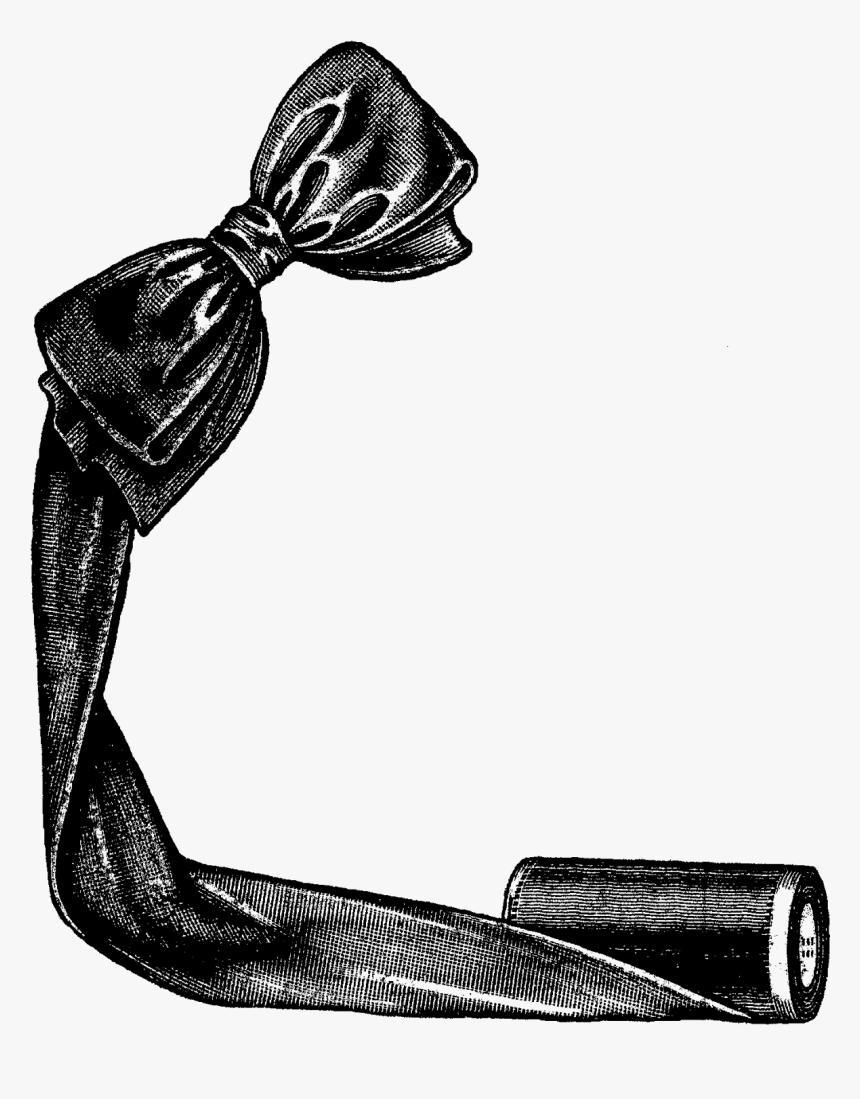 Digital Corner Design Sewing Clip Art Ribbon Bow Image - Clip Art, HD Png Download, Free Download