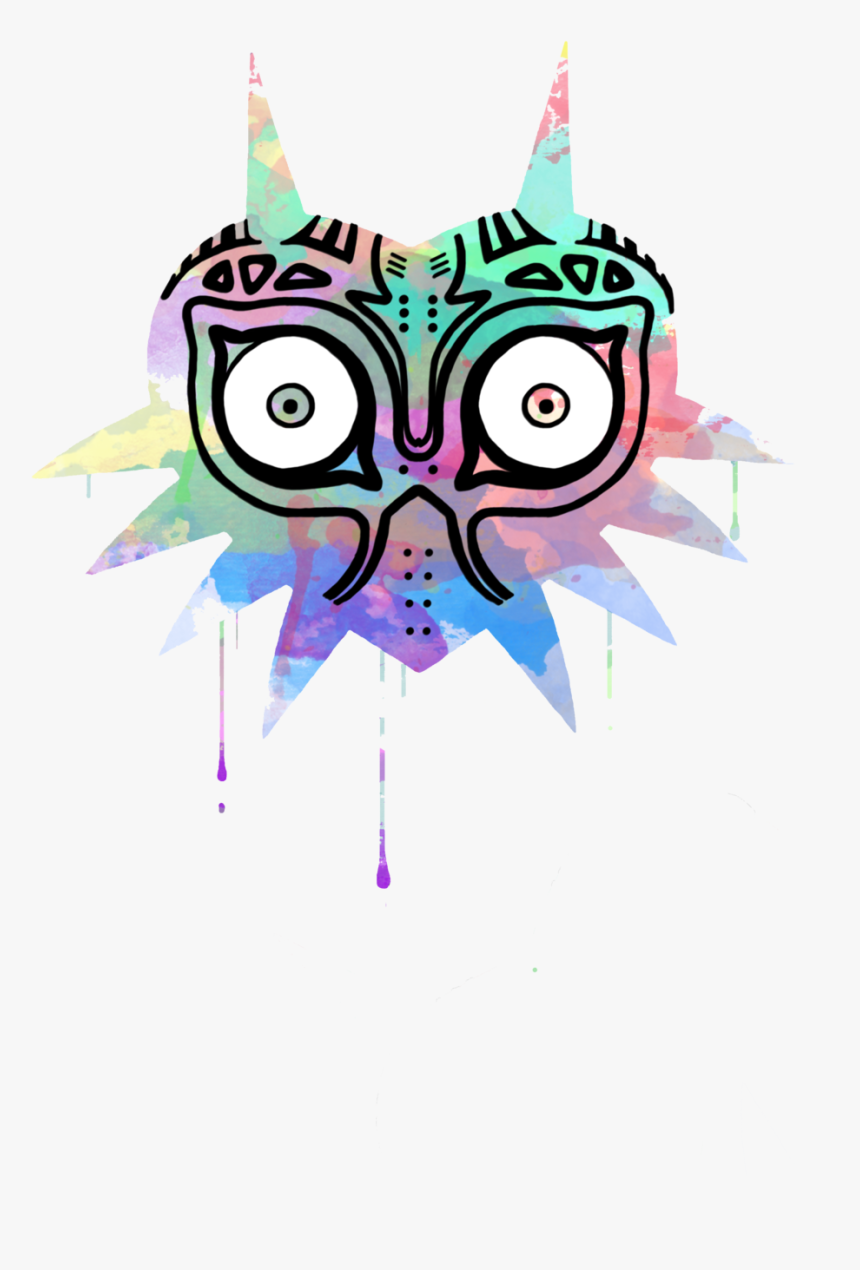 "Watercolor""s Mask - Majora's Mask Phone Case, HD Png Download, Free Download"