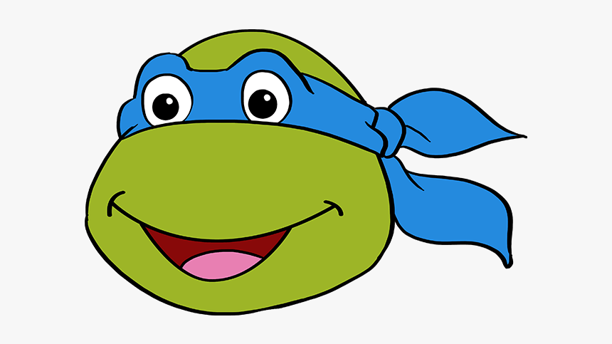 How To Draw Teenage Mutant Ninja Turtle Face, HD Png Download, Free Download