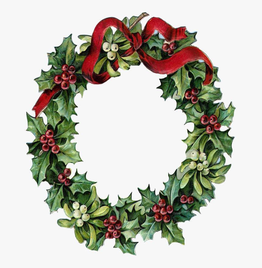 Transparent Christmas Wreath Vector Png - Free Christmas Cross Stitch Patterns For Wreaths, Png Download, Free Download