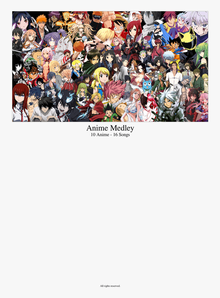 Anime Poster Of All Animes - Fondos De Pantalla De Todos Los Animes, HD Png Download, Free Download