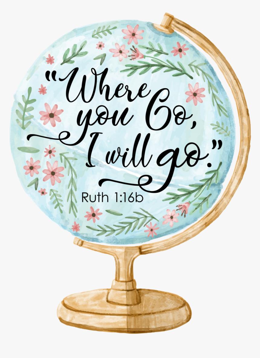 Revive 2019 Scripture Whereyougo Globe - Stickers Tumblr Mundo, HD Png Download, Free Download