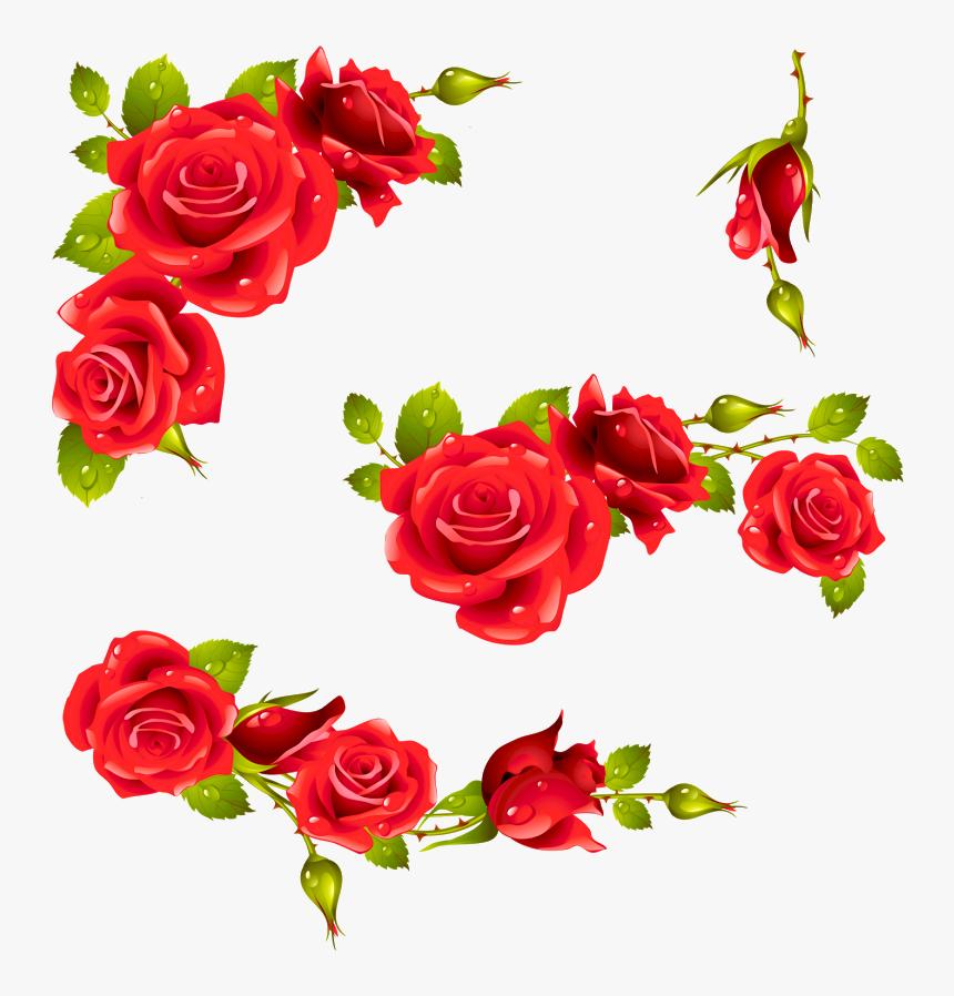 Vintage Floral Wallpapers, Background Vintage, Red - Red Rose Frame Png, Transparent Png, Free Download