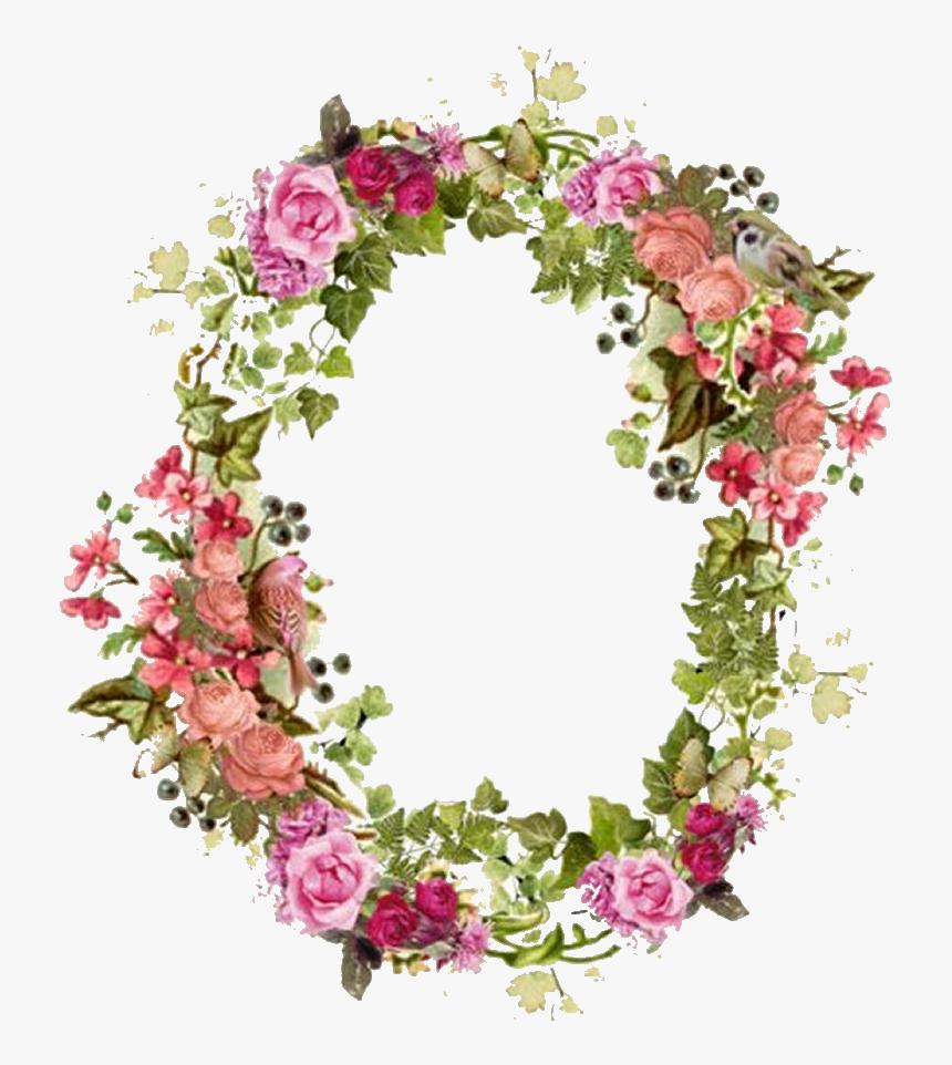 Borders Transparent Vintage Floral - Transparent Flowers Frame Overlay, HD Png Download, Free Download