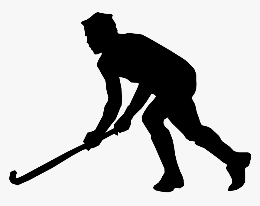 Field Hockey Silhouette Male, HD Png Download, Free Download