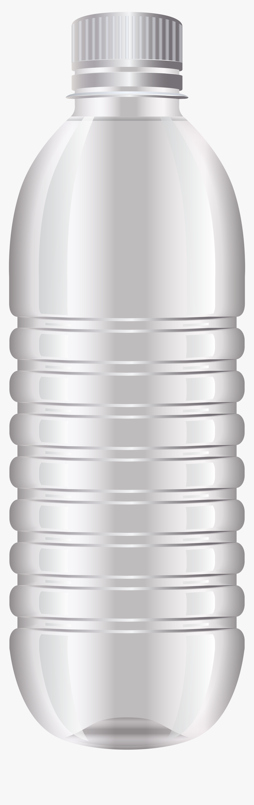 Water Bottle Png Clip Art - Water Bottle Png White Cap, Transparent Png, Free Download