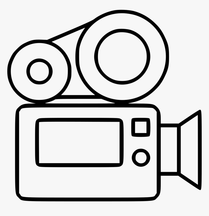 Video Camera - White Video Camera Icon Png, Transparent Png, Free Download
