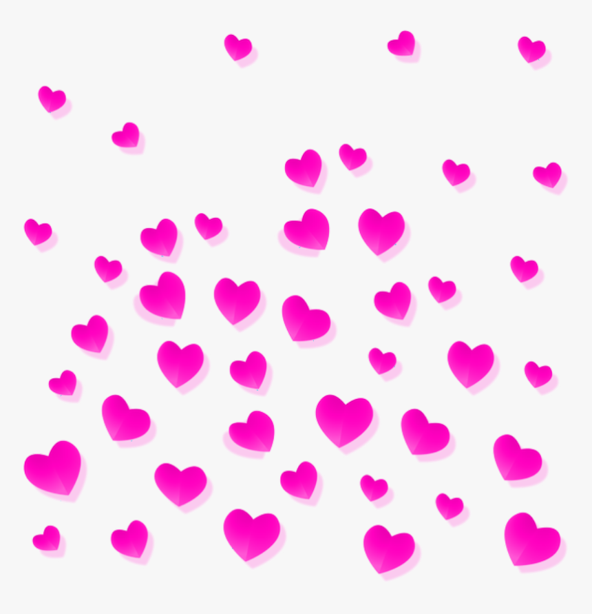 Mq Pink Love Heart Hearts Falling Background Transparent Background Hearts Clip Art Hd Png Download Kindpng