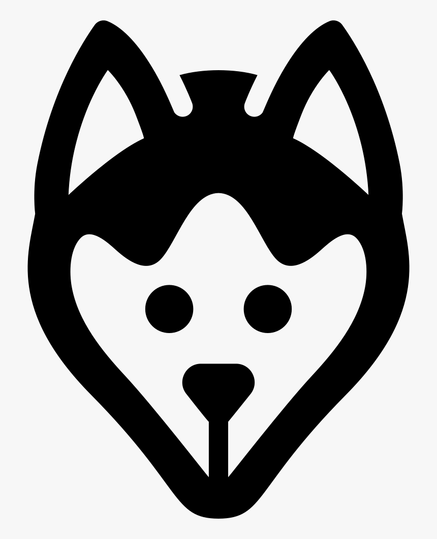 Dog Head - Dog Face Silhouette Png, Transparent Png, Free Download