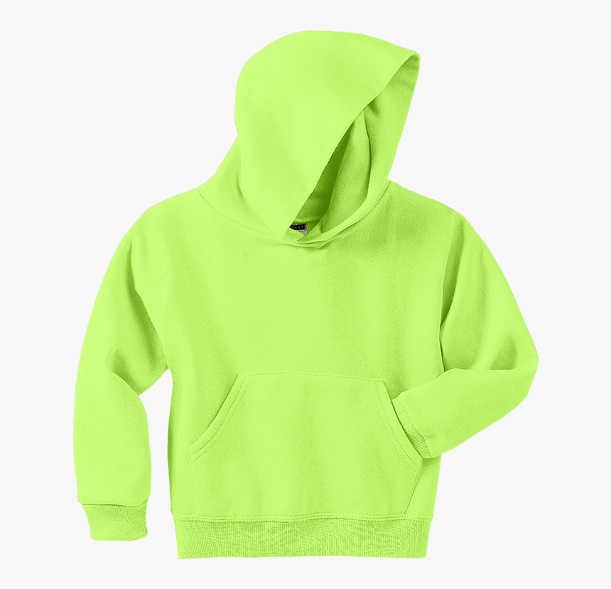 Hoodie Clipart Green - Blank Neon Green Hoodie, HD Png Download, Free Download