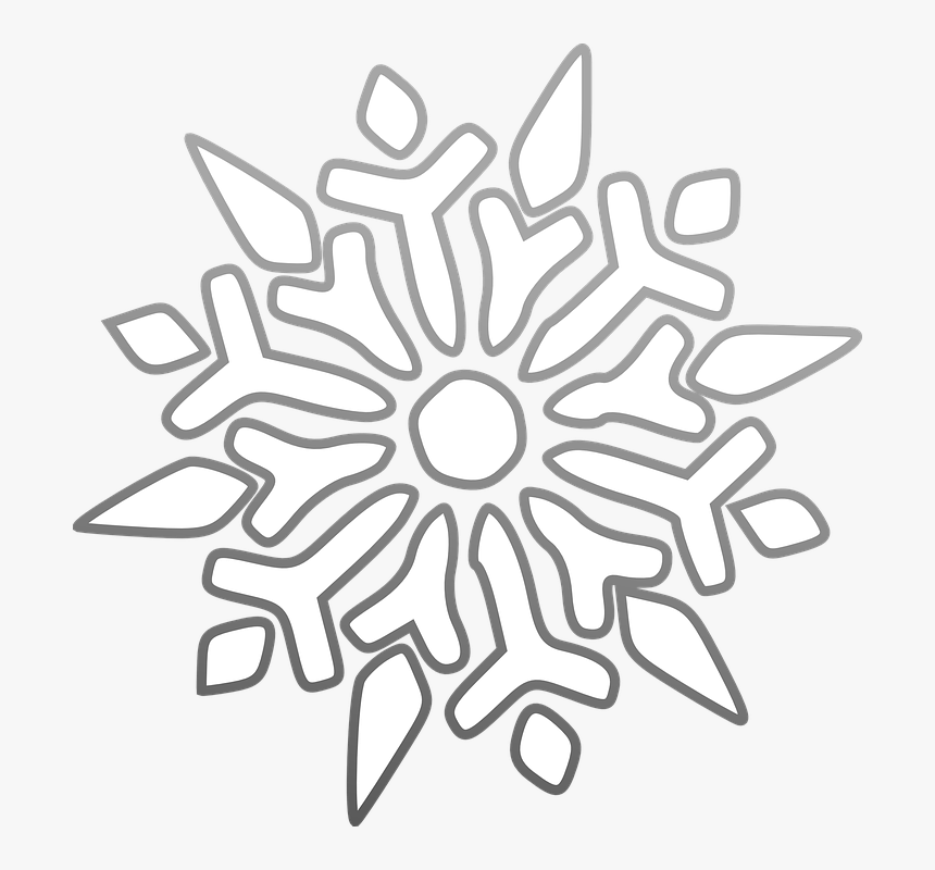Copo De Nieve, Hielo, Estrellas, Heladas, Frío - Snowflake Black Background Clipart, HD Png Download, Free Download