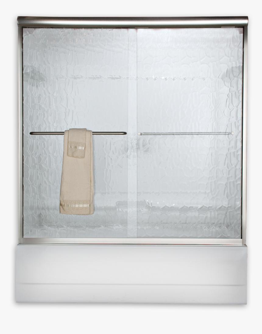 Euro Semi Frameless Sliding Tub Shower Doors Rain Glass
