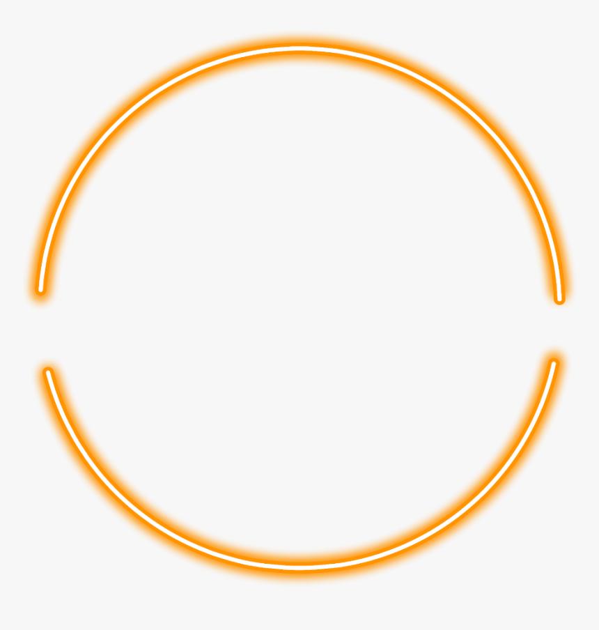 #neon #round#orange #freetoedit #circle #frame #border - Circle, HD Png Download, Free Download