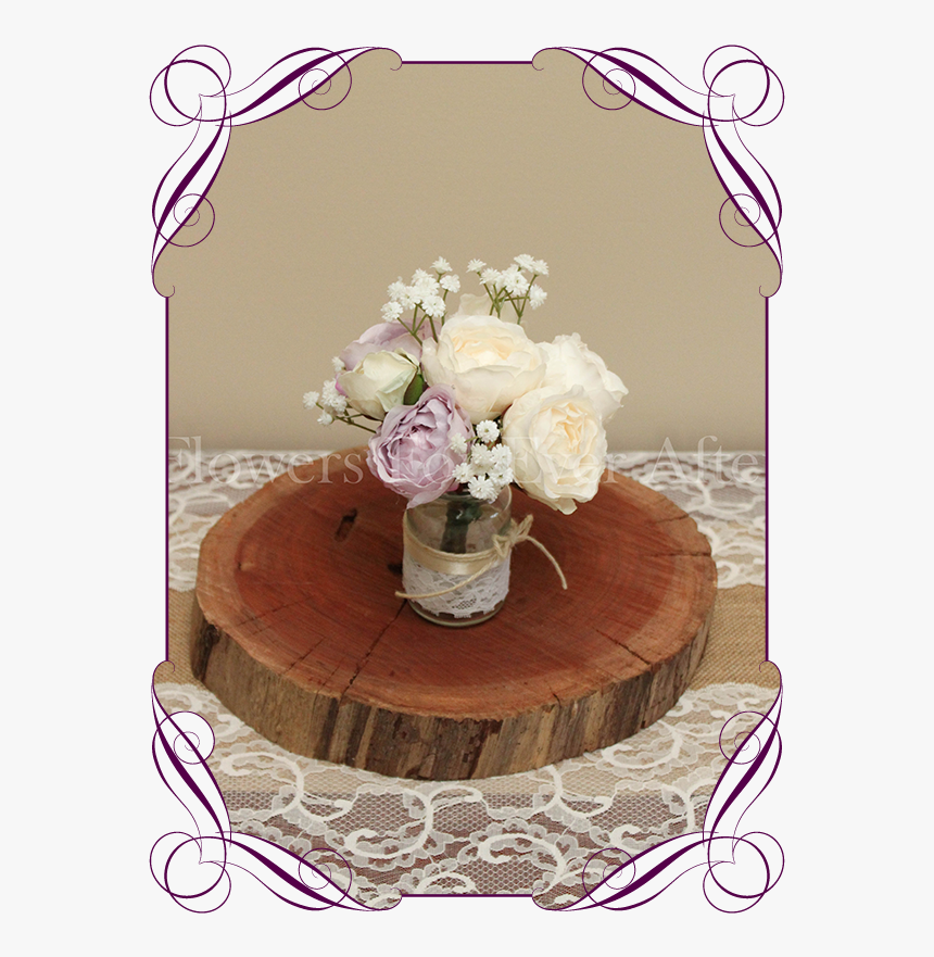 Clip Art Lilac Mauve Table Decoration - Peonies Roses And Baby's Breath Bouquets, HD Png Download, Free Download
