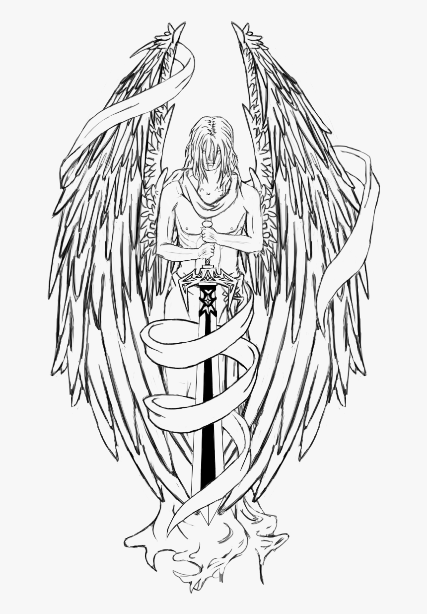 Transparent Guardian Angels Clipart Angel Tattoo Png Png Download Kindpng
