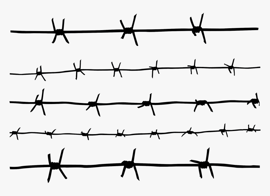 Easy To Draw Barbed Wire, HD Png Download, Free Download