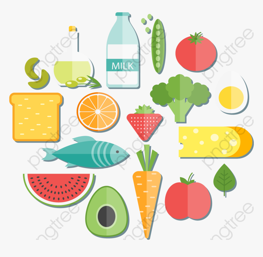 Delicious And Healthy Food Healthy Food Vector Png Transparent Png Kindpng