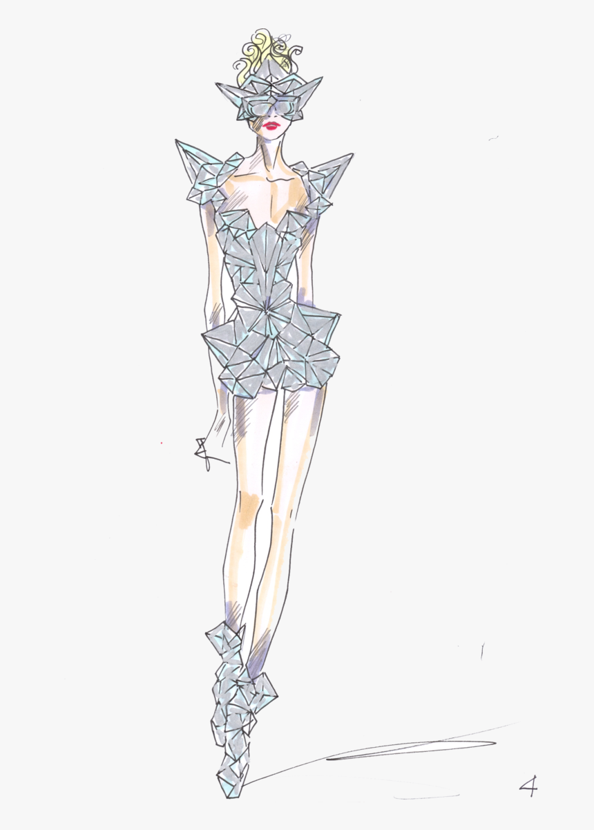 Fashion Model Transparent Background Lady Gaga Fashion Sketch Hd Png Download Kindpng
