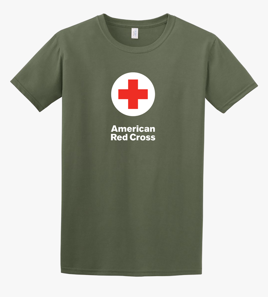 Unisex Cotton T Shirt - Red Cross T Shirt Military, HD Png Download, Free Download