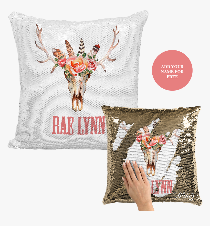 Sequin Pillow Rose Gold Personalized, HD Png Download, Free Download
