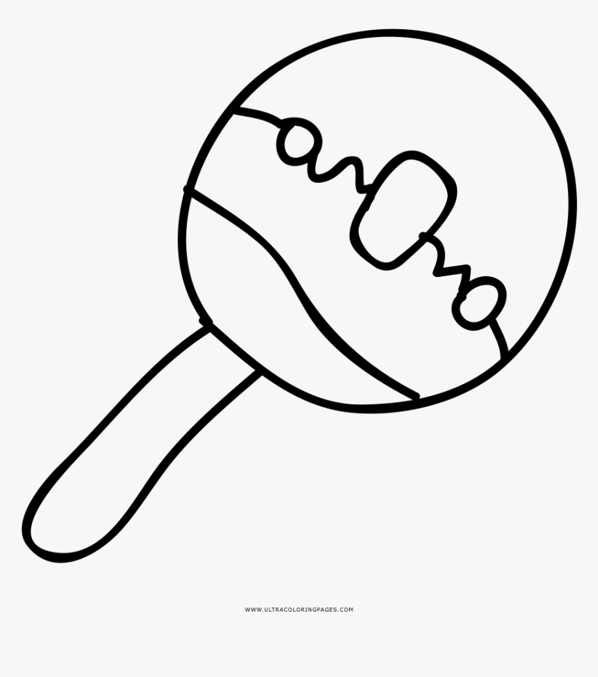 Baby Rattle Coloring Page - Desenhos De Chocalho Para Colorir, HD Png Download, Free Download