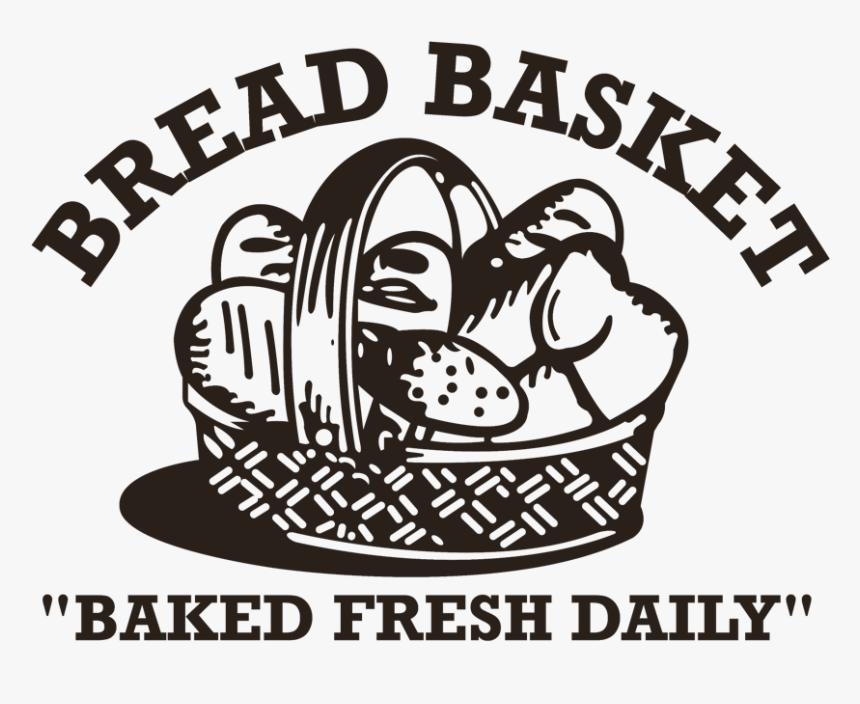 Bake Clipart Baking Bread Bread Basket Black N White Hd Png Download Kindpng