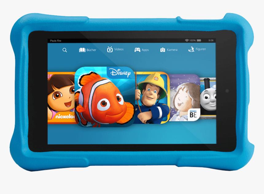 Kindle Fire Kids Edition Blue Transparent Image - Pink Kindle Fire Tablet, HD Png Download, Free Download