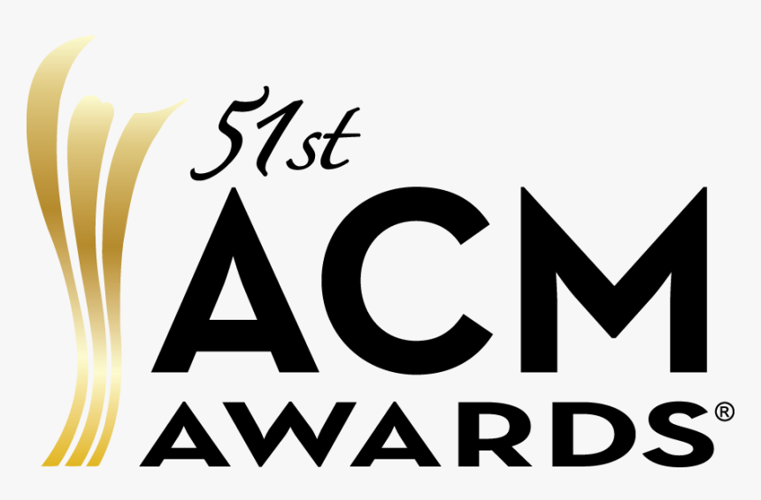 2016 51st Acm Award Logos Standard Black Gold - 2014 Country Music Association Awards, HD Png Download, Free Download