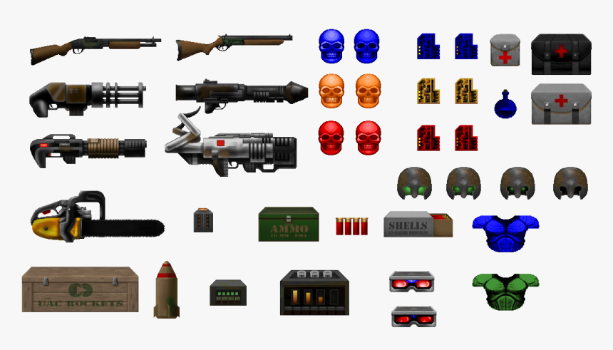 Transparent Doomguy Png Doom Weapon Sprites Png Download Kindpng