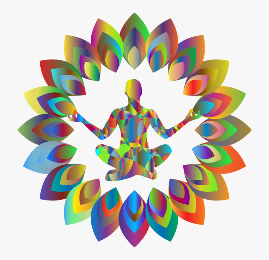 Symmetry,petal,graphic Design - Clip Art On Yoga, HD Png Download, Free Download