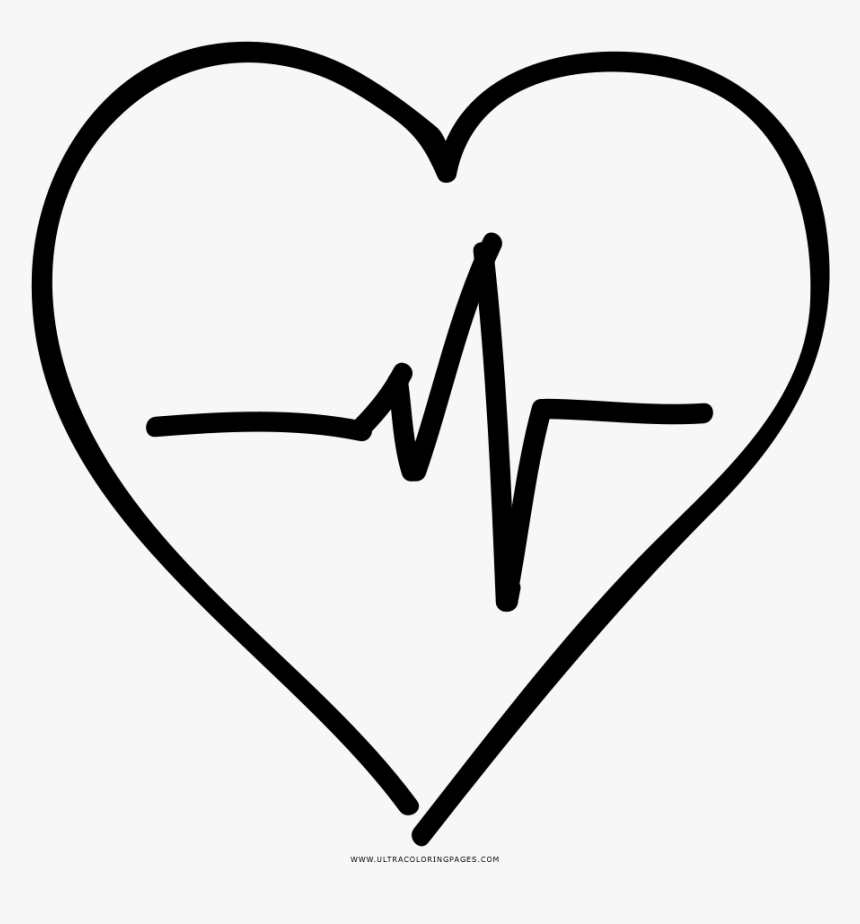 Heart Rate Coloring Page, HD Png Download, Free Download