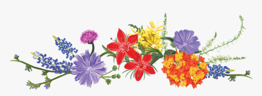 Flower Design For Heading, HD Png Download - kindpng