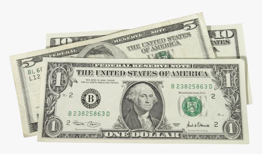 1 Dollar Bill Clip Art - Dollar Bill Transparent Background, HD Png Download, Free Download
