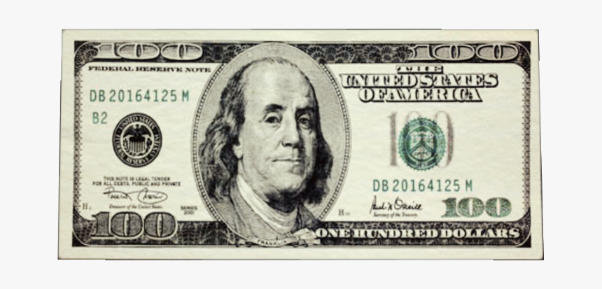 #hundred #bill #money #100dollarbill #onehundred #hundo - Currency Notes Of America, HD Png Download, Free Download