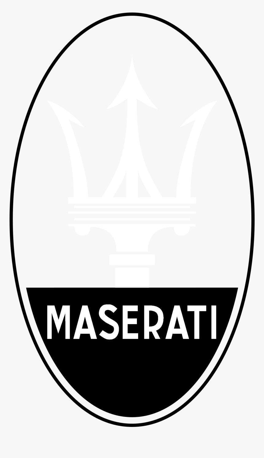 Maserati Logo Black And White - Maserati Emblem, HD Png Download, Free Download